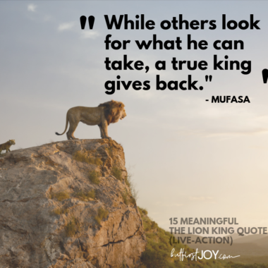 These live-action Lion King Quotes from the 2019 movie will make you feel all of the same feelings you felt when watching the original.
