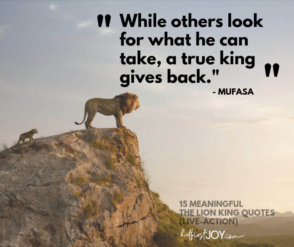 15 Meaningful Live-Action Lion King Quotes (2019) | But ...