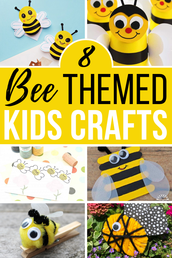 These bee themed crafts for little kids are super cute. You can make these using supplies you probably already have in your home!