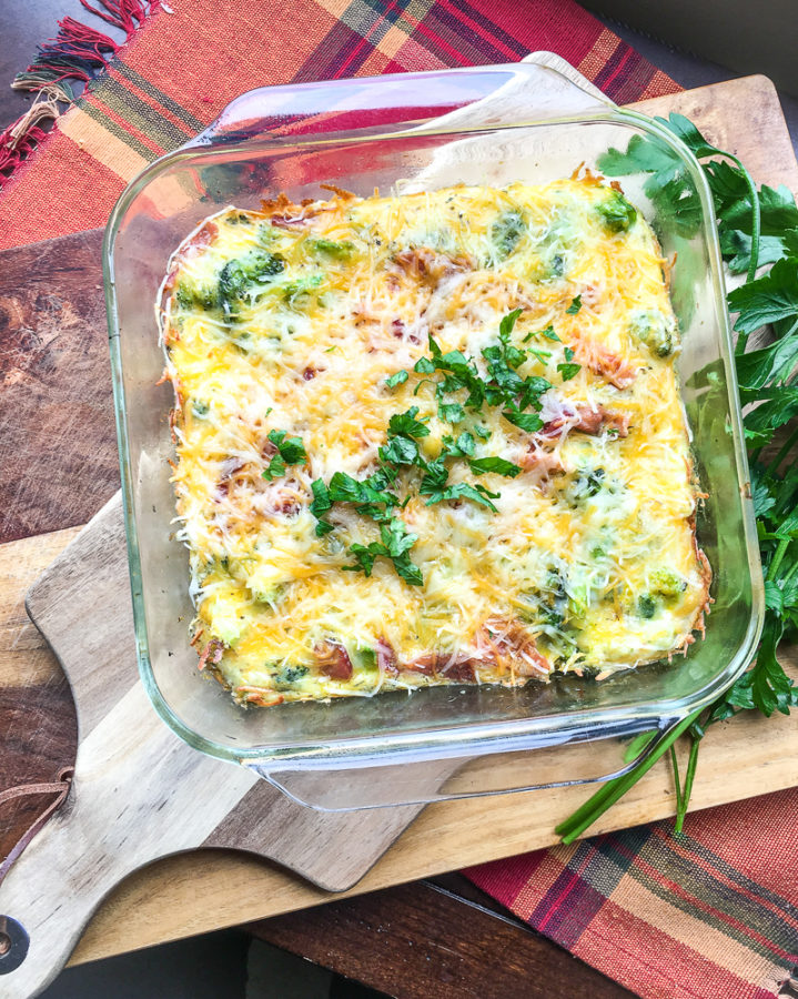 This is the best broccoli bacon keto breakfast casserole I've ever tried!
