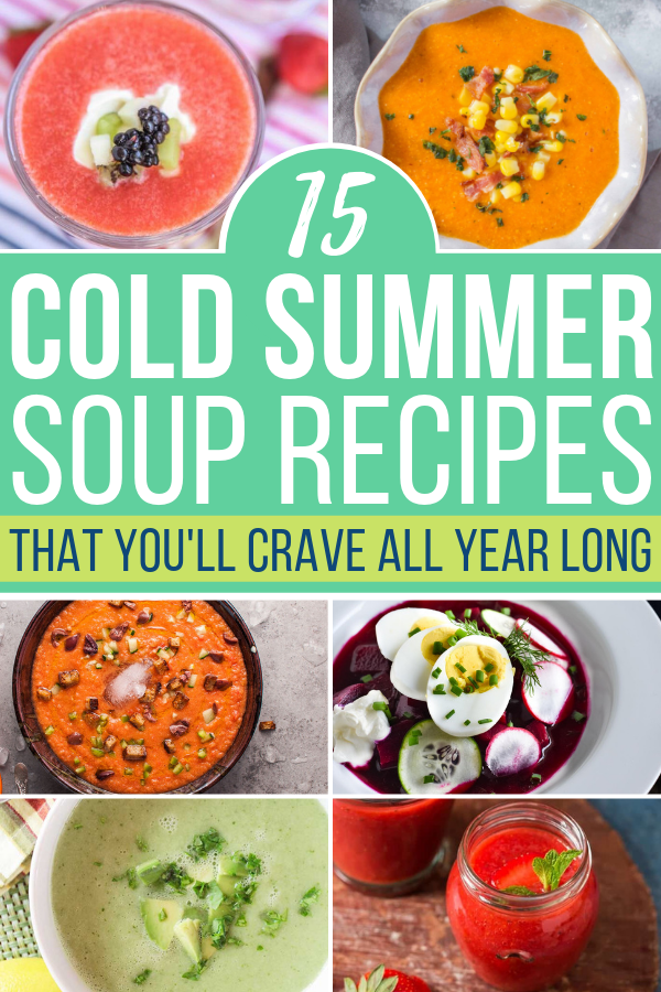 What better way to cool off than with a few of the best cold summer soup recipes on the planet! These easy recipes are great for the whole family.