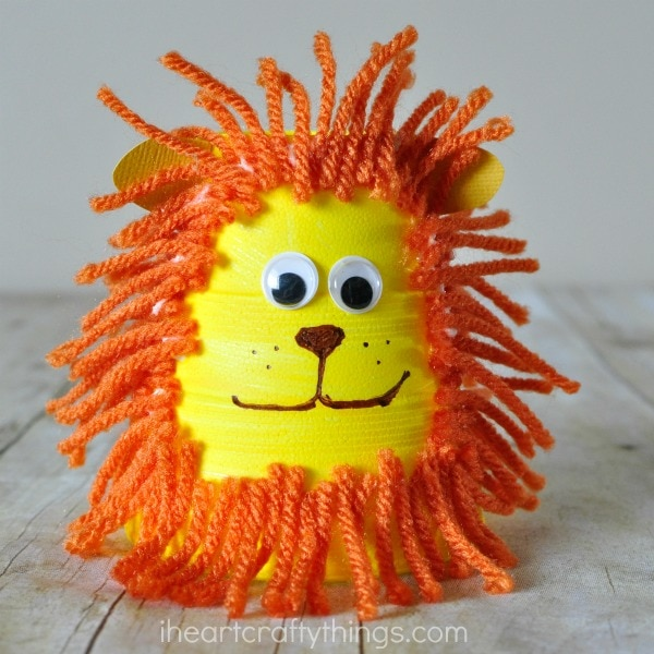 1. Foam Cup Lion Craft for Kids