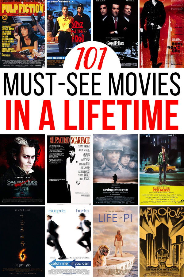 You don't have to be a movie geek to enjoy these masterpieces. So, the next time you're stuck inside on a rainy day, hop onto Netflix, Hulu, or Amazon and pick a film to familiarize yourself with.  (101 movies to watch in a lifetime)