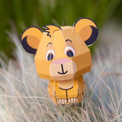 5. Simba Cutie Papercraft
