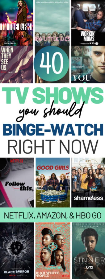 These are the best shows to binge watch on Netflix, Amazon Prime, and HBO Go! I highly recommend all of them!