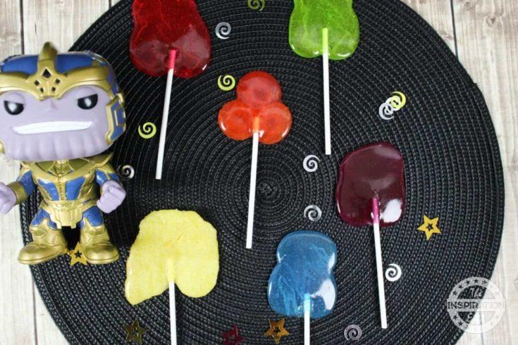 DIY Avengers Infinity Stone Lollipops