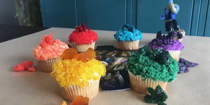 Infinity Stone Cupcakes