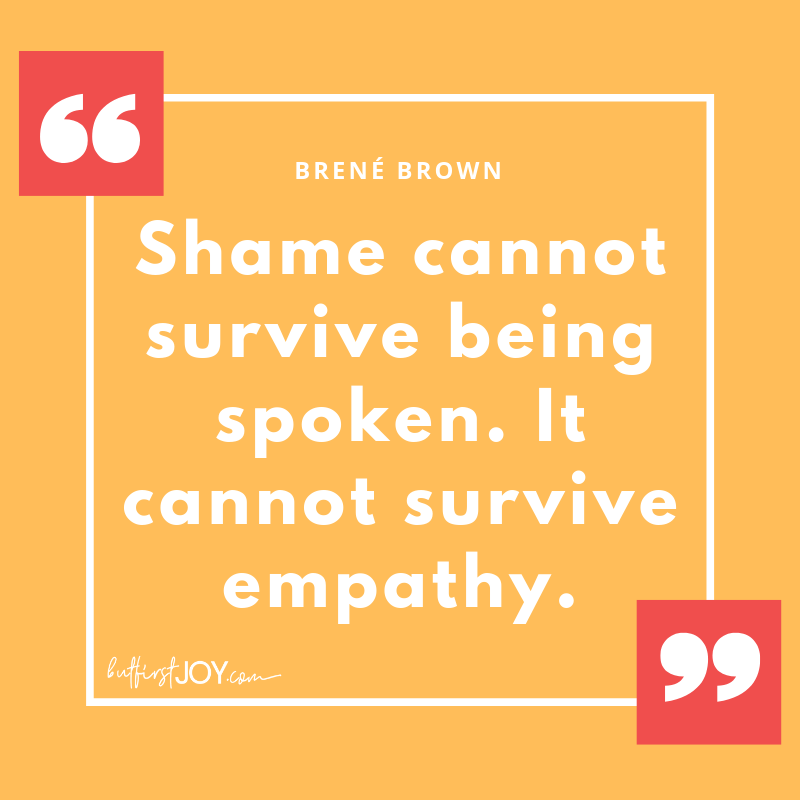 Inspirational Brené Brown Quotes - Shame Empathy