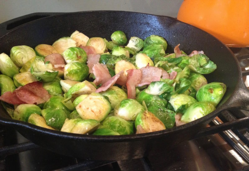 Keto Brussel Sprouts with Bacon are the perfect low-carb side dish to go with your Keto dinner. Quick to cook, few ingredients, and full of flavor; this will be your go-to Keto side for those busy week nights.