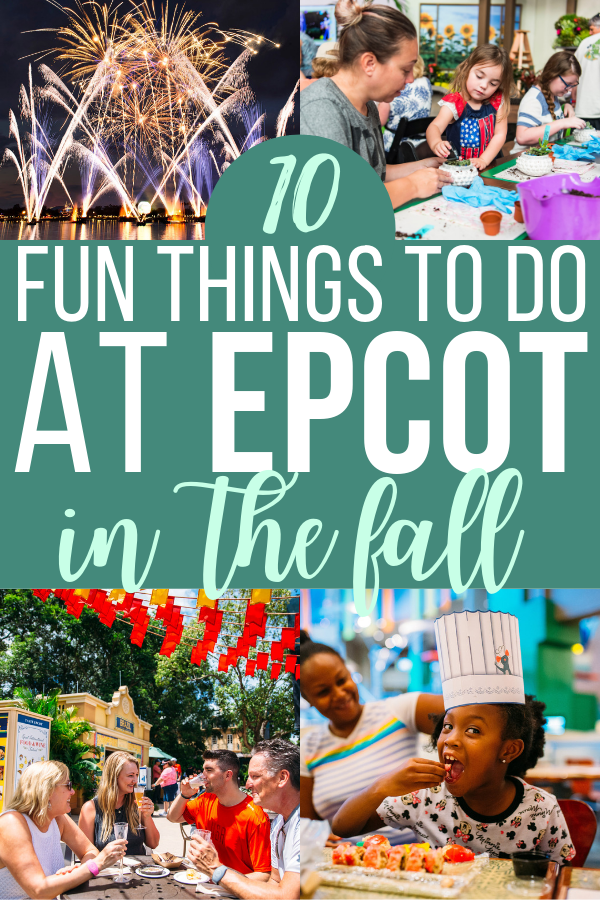 Don't leave for your fall Walt Disney World vacation without planning these fun things to do at Epcot in the fall!