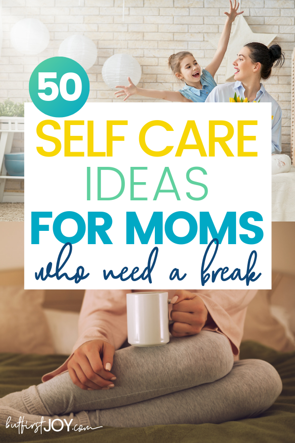 It's important for mothers to invest in themselves in order to be a happy mom. With this long list of self care ideas for moms – she can do just that.