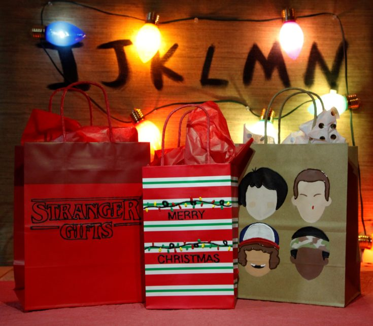 DIY Stranger Things Gift Bags