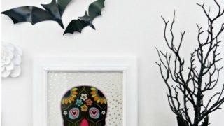 DIY Dollar Store Skull Halloween Decor