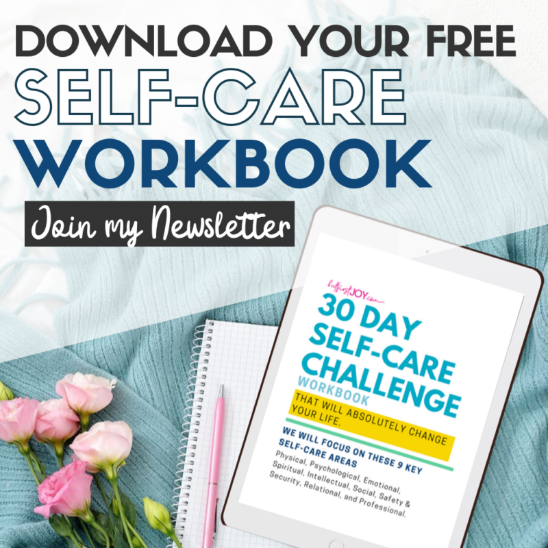 Newsletter Free Self-Care Workbook!