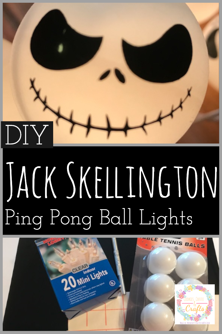 DIY Jack Skellington Ping Pong Ball Lights