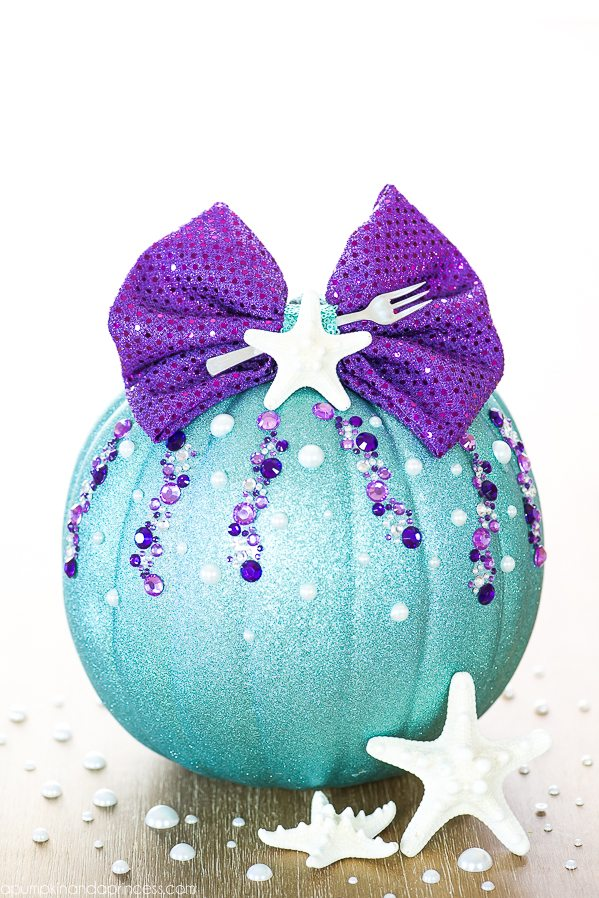 DIY No-Carve Little Mermaid Pumpkin