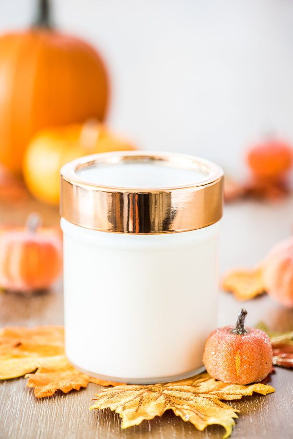 DIY Pumpkin Spice Candle