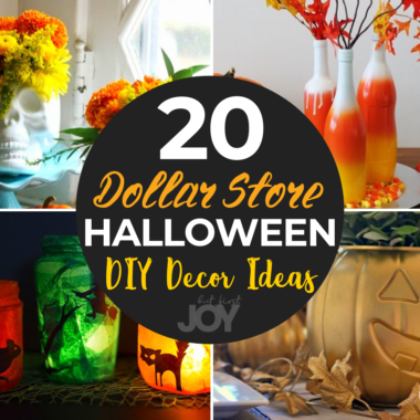 These DIY Dollar Store Halloween Decor ideas are the perfect way to decorate on a budget. You can even get the kids involved!