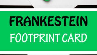 Frankenstein footprint card