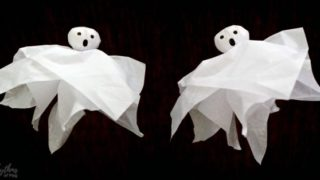 Halloween Ghost Craft and DIY Halloween Ghost Decoration