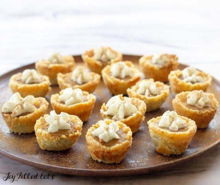 Mini Pumpkin Pies - Low Carb, Keto, Gluten-Free, THM S