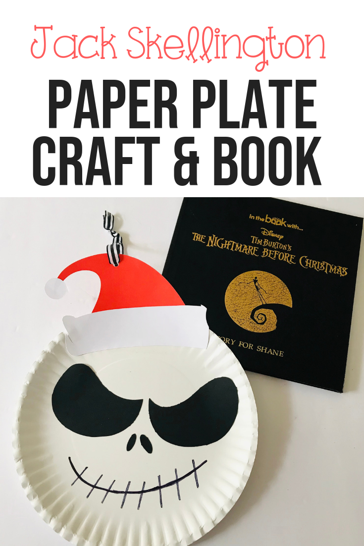 Jack Skellington Paper Plate Craft and Book