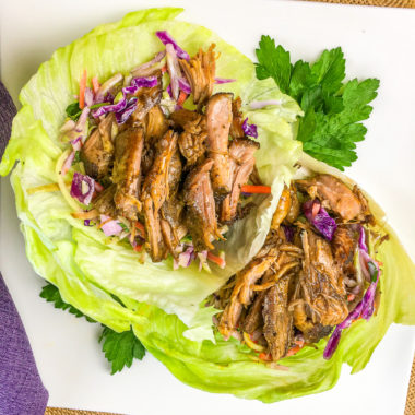 Slow Cooker Pulled Pork Lettuce Wraps (Low-Carb)