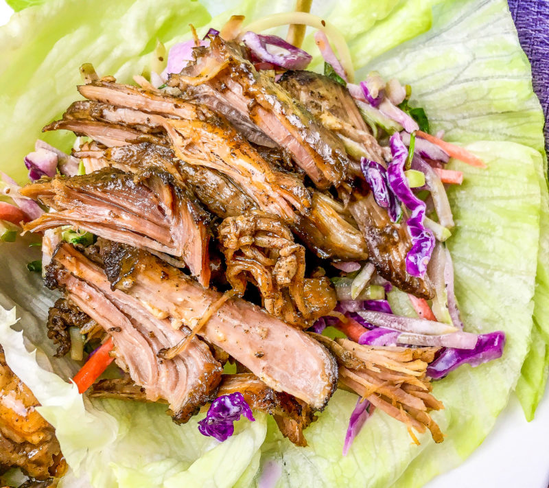 Delicious pulled pork lettuce wraps recipe!