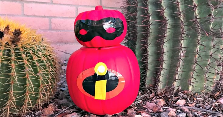 Easy No-Carve Incredibles Pumpkin