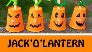 Paper cup Jack'O'Lantern craft