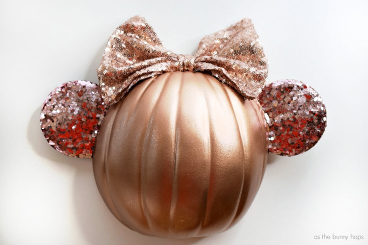 Rose Gold Minnie Ears Pumpkin
