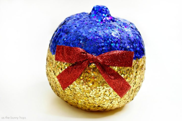 Glittery Snow White Pumpkin