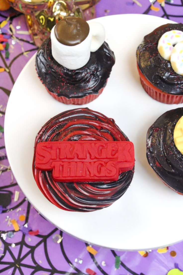 DIY Stranger Things Surprise Cupcakes