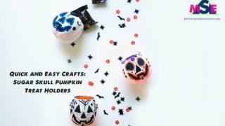 Sugar Skull Pumpkin Treat Holders