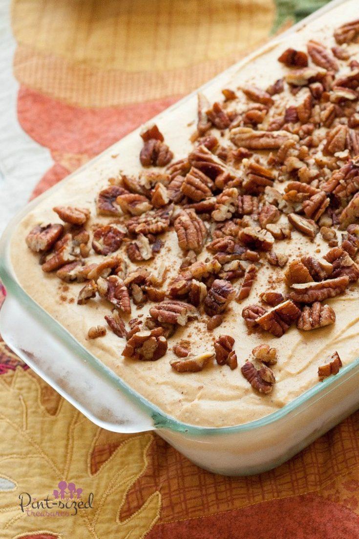 No Bake Browned Butter Pumpkin Dessert Lasagna