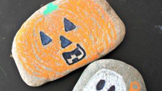 Halloween Rocks: Chalk Marker Halloween Decorations