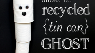 How to Make a Tin Can Ghost Wind Chime