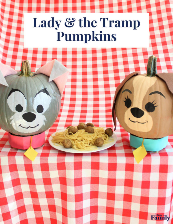 Lady & the Tramp Pumpkins for a Bella Notte