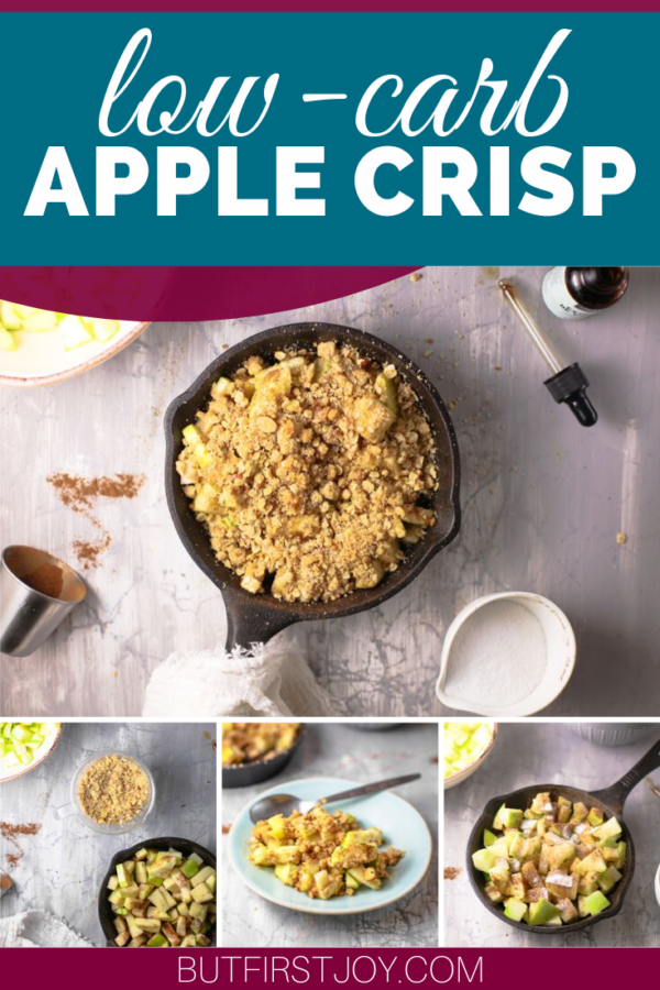 You won't believe what's in this Low-Carb Apple Crisp! This isn't your traditional Apple crisp recipe as it includes a very special Keto-friendly ingredient that will absolutely blow your mind! #lowcarblife #ketolifestyle