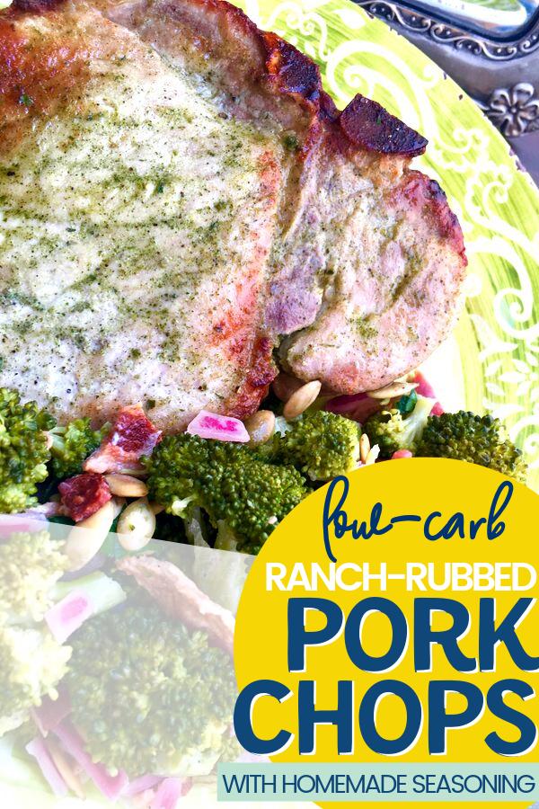 Pork Chops with Homemade Ranch Rub