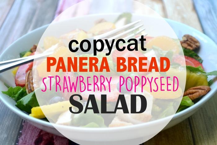 11. Copycat Panera Bread Strawberry Poppyseed Salad