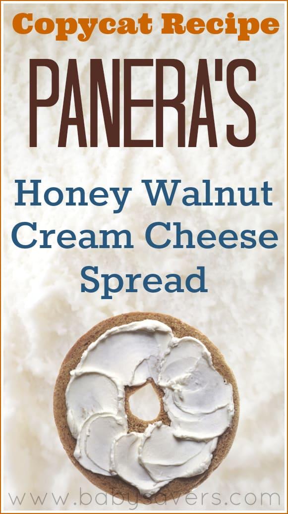 18. Copycat Panera Bread's Honey Walnut Cream Cheese Spread Recipe