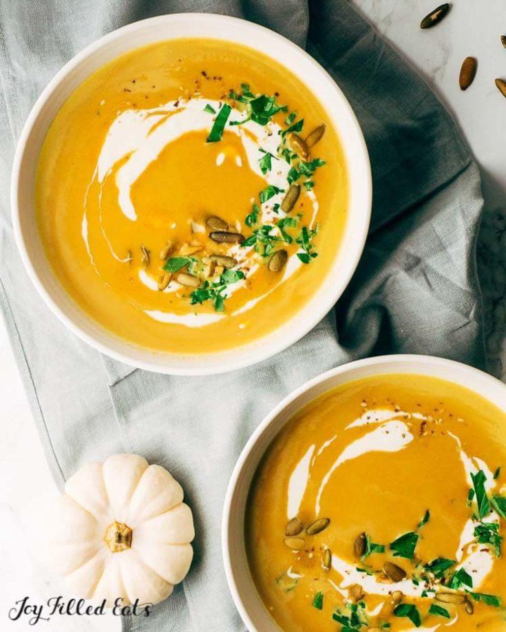 Easy Pumpkin Soup - Low Carb, Keto, THM S, Gluten-Free