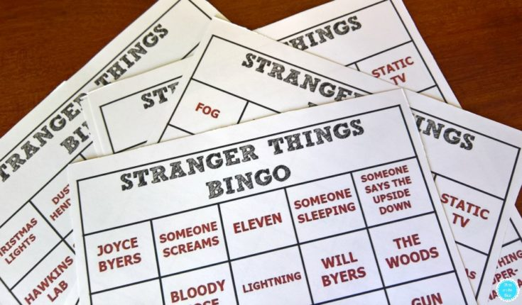 Printable Stranger Things Bingo Cards
