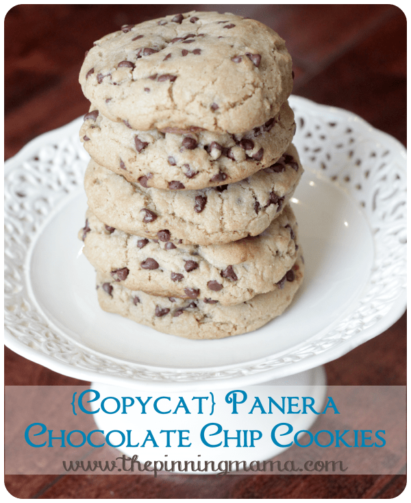 19. {Copycat} Panera Chewy Chocolate Chip Cookies • The Pinning Mama