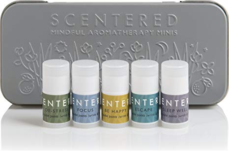 1. Scentered Portable Aromatherapy Balms Gift Set
