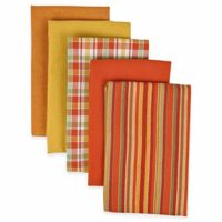 "DII Kitchen Towels (Spice, 16x26""), Ultra Absorbent & Fast Drying, Professional Grade Cotton Tea Towels for Everyday Cooking and Baking - Assorted Patterns, Set of 5"