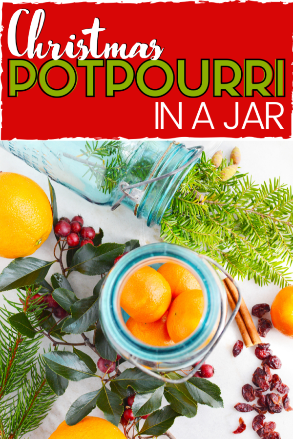 Christmas Potpourri in a Jar is basically handing the scent of Christmas to someone you love. It's the perfect budget-friendly DIY jar gift that anyone would appreciate.