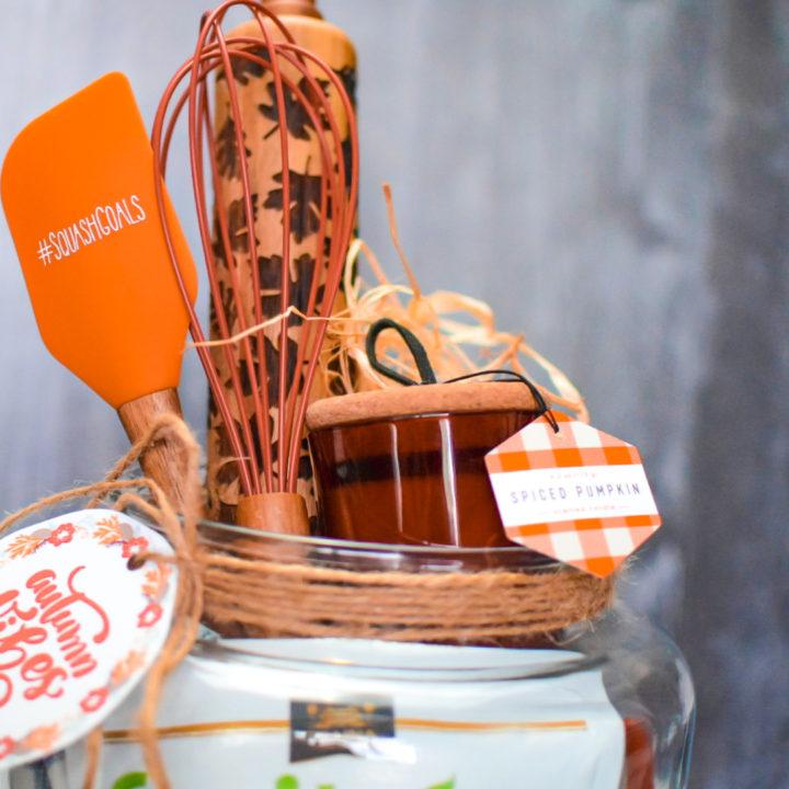 DIY Fall Themed Jumbo Jar Gift