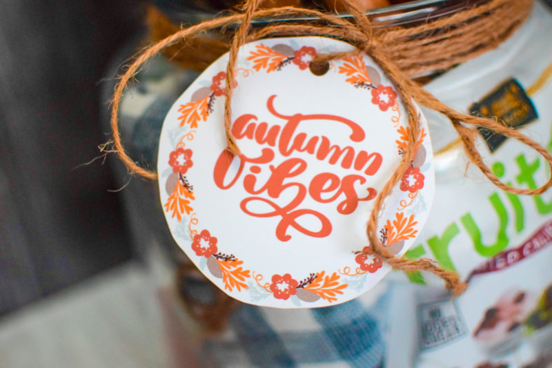 Autumn Vibes Free Gift Tag Printable